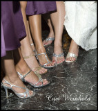 Bridesmaids fancy footwear.
