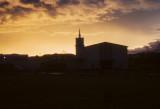 Sunset over base chapel