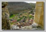 Below, the village