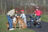 Sometimes You have to Get off Your BIke and Pet a Doggy~