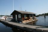 Ladysmith Marina float house.