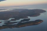Flying east over Vancouver Island