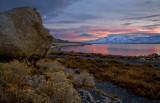 Pyramid Lake Sunset View