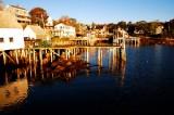 First Light on Stonington Docks