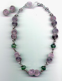 Fluorite Solid Silver Coil Necklace and Earrings