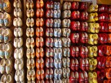 There are plenty of wooden shoes for sale