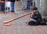 Street musician and an unusual instrument