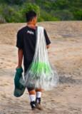 Net Fisherman Walking