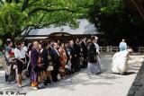 Japanese wedding ceremony at Atsuta Jingu