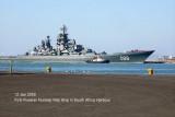 Cape Town acepts Russian Nuclear War Ship