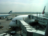 New A380 Airbus Emirates Old Terminal 3 London