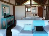 Modern furnishings make it very homey