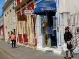 Colorful shops line the streets