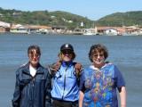 Karen, center, joins friends on whale watching trip