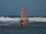 The wind was whipping the sail