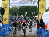 They are off! Race started at 12 noon Saturday. Ended at 10 a.m. Sunday. Called short due to terrible, rainy weather.