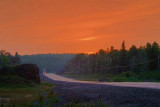 Trans-Canada Highway At Sunset 49791