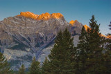 Canadian Rockies At Sunrise 17767