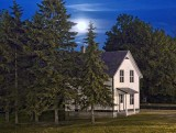 Moonrise Over A Lockmaster's House 20100528