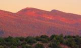Sandia Mountains In Sunrise Glow 20071112