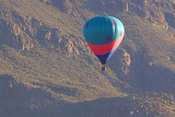 Hot Air Balloon Beside A Mountain 74264