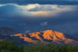 Mountain In Sunset Glow 75515