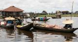Floating market in Ganvié.