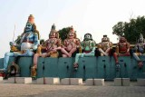 Giant statues of Ayyanar's companion gods at Pachaiamman Kovil near Thiruvakkarai.  http://www.blurb.com/books/3782738