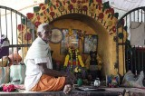 Small altar at Samayapuram Mariamman temple, Tamil Nadu. http://www.blurb.com/books/3782738