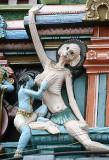 Chamunda at Ranganatha temple in Srirangam, Tamil Nadu.