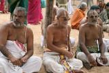 Priests at Sri Ranganatha temple in Srirangam, Tamil Nadu.