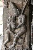 Relief at Varadharaja Perumal temple in Kanchipuram, Tamil Nadu.