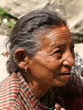Lady near Nagarkot, Nepal.