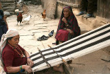 Traditional weaving in Ghale Gaun, Nepal.