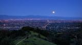 The Worm Moon Rising over the Santa Clara Valley