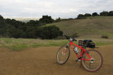 Mountain biking amongst the greening hills