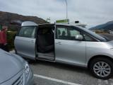 Our rental Toyota Van