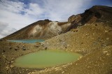 The Emerald Lakes and the Red Crater