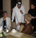 Lena Hjelm-Wallen and Swanee Hunt with Sheikh Abdel-Rahman bin Saud al-Thani