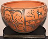 Zuni Deer Heartline Bowl (Priscilla Peynetsa)