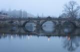 English bridge at dawn