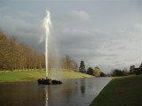 Chatsworth - bright fountain on a grey day