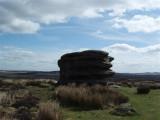 Windswept rock on Curber Edge
