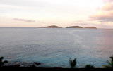 View from L'Ocean Hotel on La Digue - nearing sunset