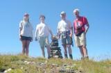 Meike, Arnoud, Willem en Hans op de Pizzo di Cadrèigh