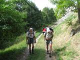 Vanaf  Huez (1415 meter) naar Combe-Haute (1600 meter)