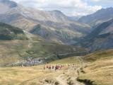 afdaling vanaf col du Souchet (2365 meter) naar Chazelet