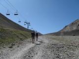 Langs de télésiège du Col de l'Echauda