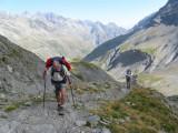 klim naar Col de l'Aup Martin