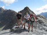 Hans, Willem en André op de Col de l'Aup Martin (2761 meter)